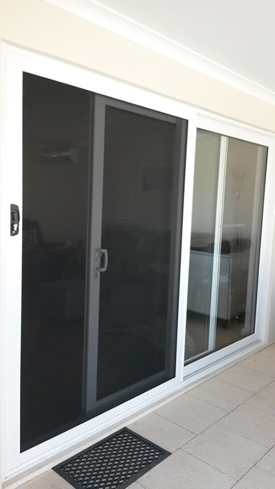 Sliding door installed with double glazing perth